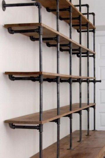 modelos de libreros de madera industrial
