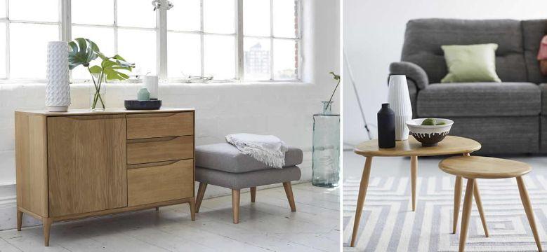 muebles de madera para sala al estilo nordico