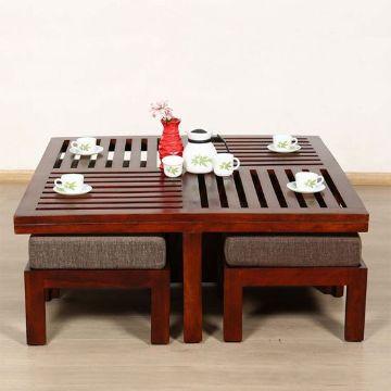 muebles de madera para sala mesa de te