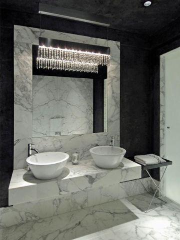 baños blanco y negro elegantes