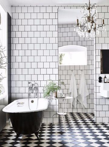 baños blanco y negro pequeñoas