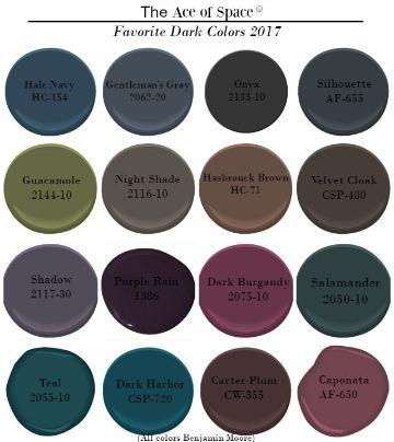 colores para habitaciones pequeñas tendencias tonos oscuros