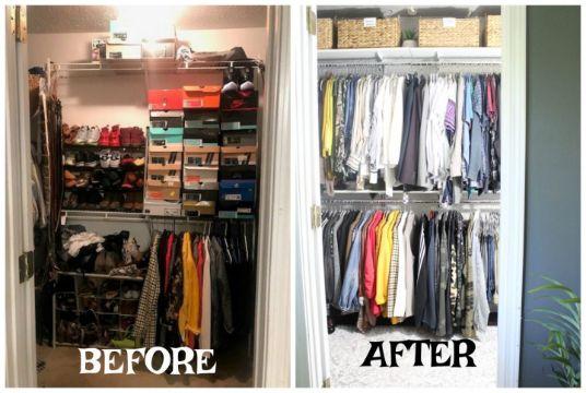 como organizar un closet pequeño antes y despues