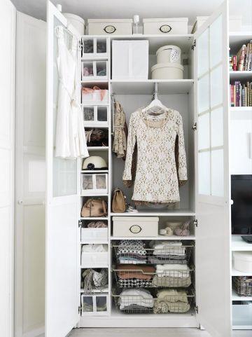 como organizar un closet pequeño de manera original