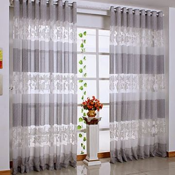 cortinas para sala pequeña con bordados e impresiones