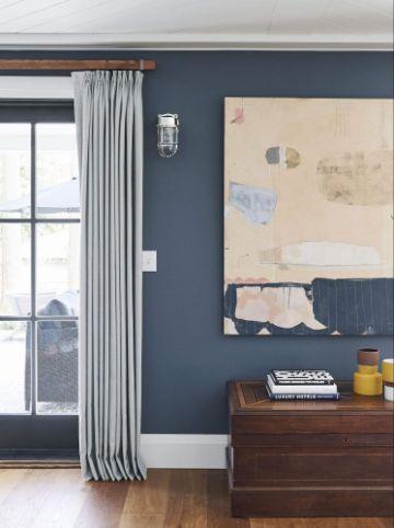 cortinas para sala pequeña en armonia con los muros