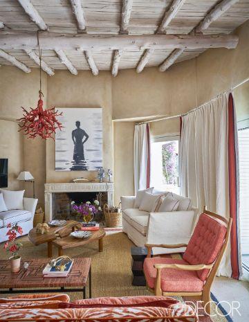 cortinas para sala pequeña estilo rustico