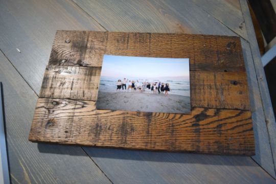 cuadros de madera para fotos con madera reciclada