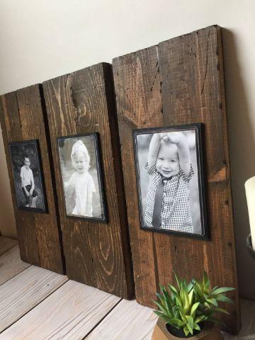 cuadros de madera para fotos rusticos