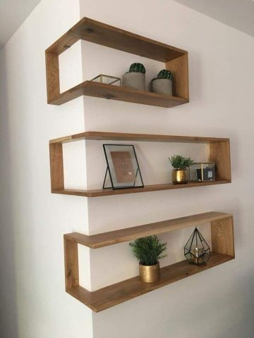 decoracion en madera para el hogar repisas modernas