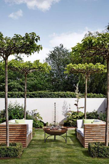 jardines de casas de campo modernas