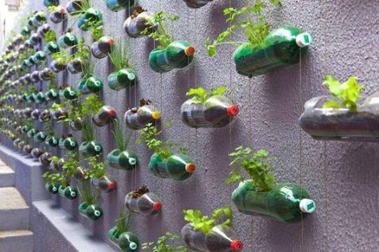 maceteros de material reciclado botellas de plastico