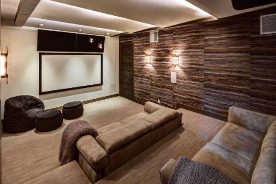 salas de entretenimiento modernas tipo sala de cine