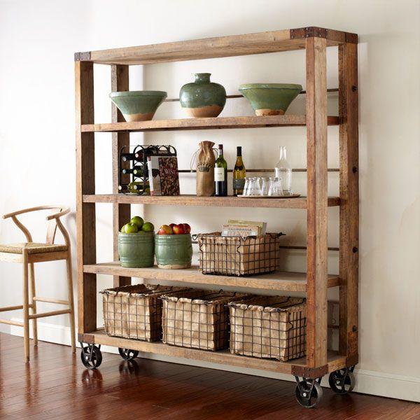 adornos para decorar estantes en cocinas rusticas