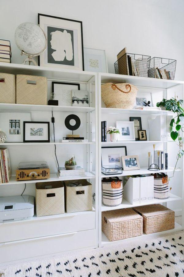 adornos para decorar estantes organizacion