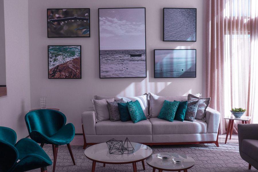 adornos para la sala modernos fotografias en los muros