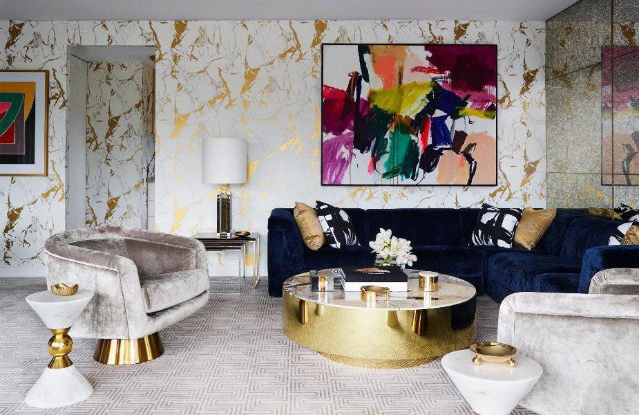 adornos para la sala modernos paredes coloridas