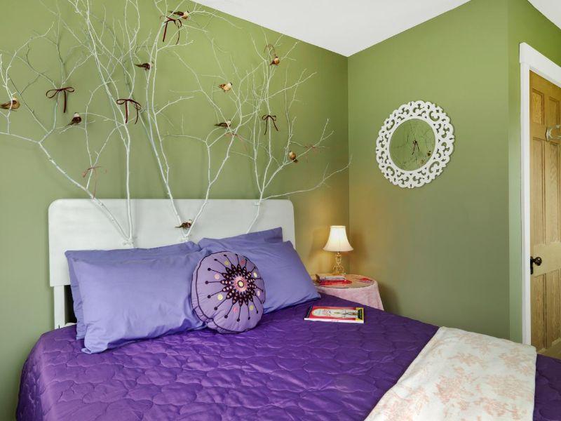 cabeceras de cama para niñas bosques