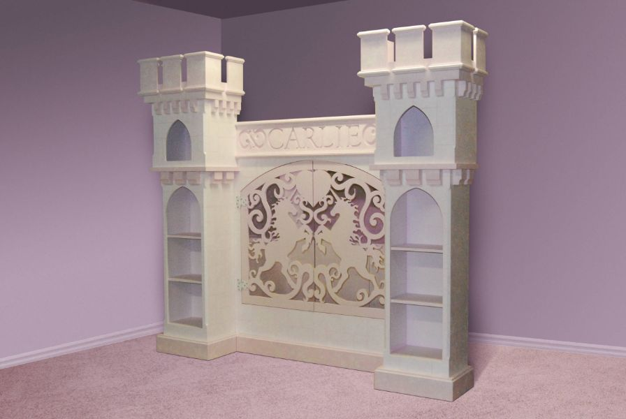 cabeceras de cama para niñas de castillo