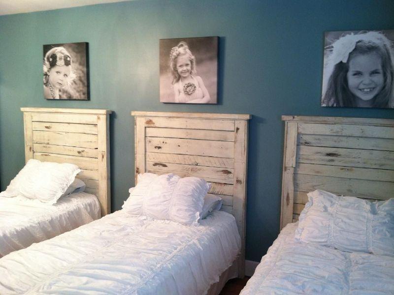 cabeceras de cama para niñas vintage para hermanas
