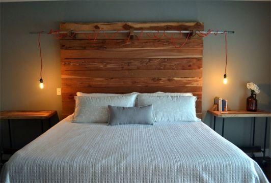 cabeceros de cama de madera ambiente rustico