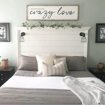 cabeceros de cama de madera vintage