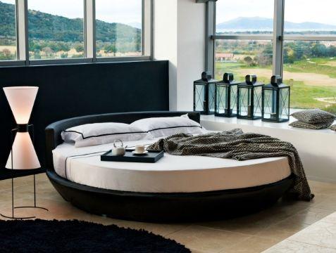 diseños de camas modernas redondas