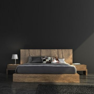 diseños de camas modernas rusticas