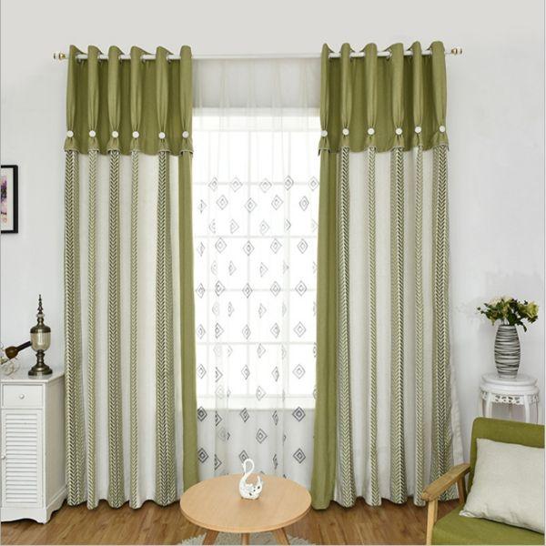 diseños para cortinas de sala con ornamentos
