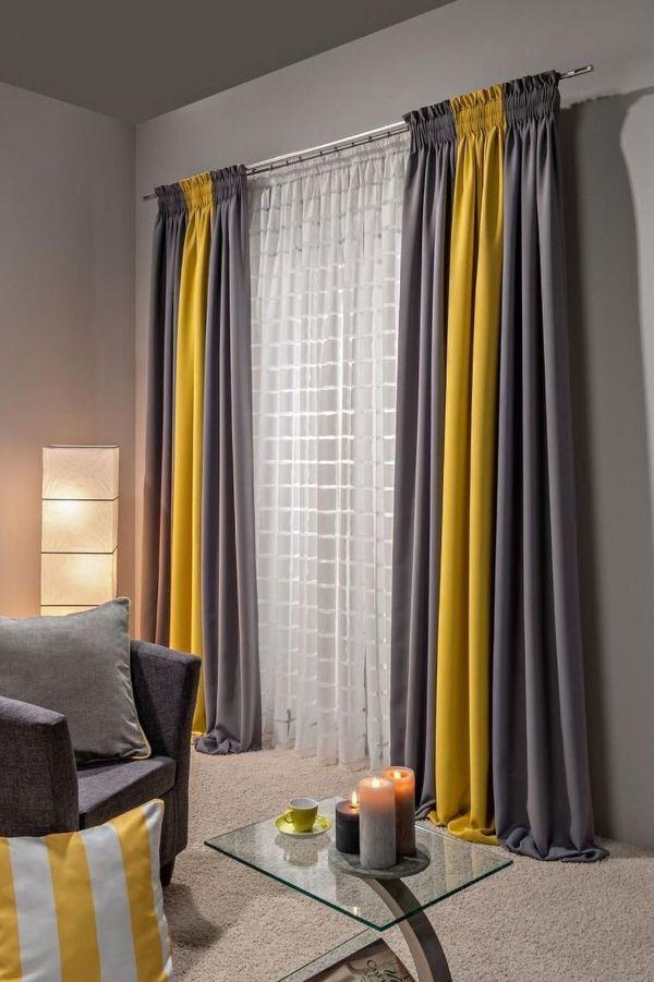diseños para cortinas de sala contrastes