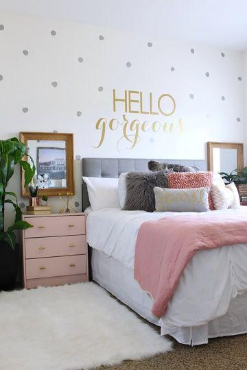 dormitorios pequeños juveniles con viniles