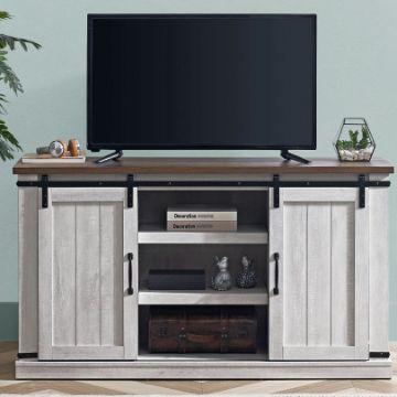 mesa de entretenimiento para tv vintage puertas