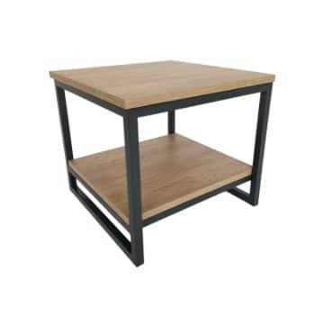 mesas de centro de melamina de dos niveles