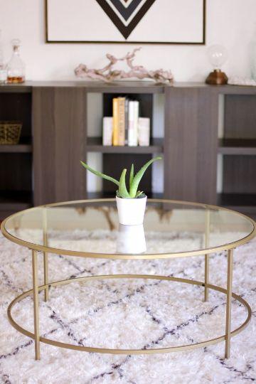 mesas de centro para sala cristal