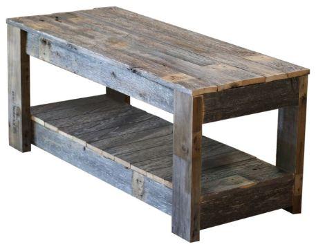 mesas de centro rusticas con dos niveles