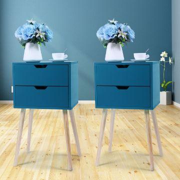 mesas de noche modernas con altura y coloridos