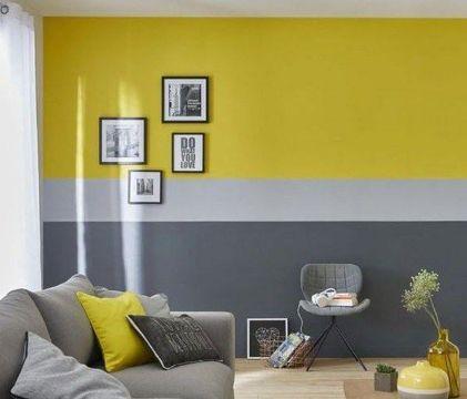 salas amarillas con gris contrastes