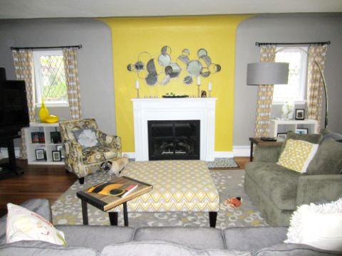 salas amarillas con gris diversas tonalidades