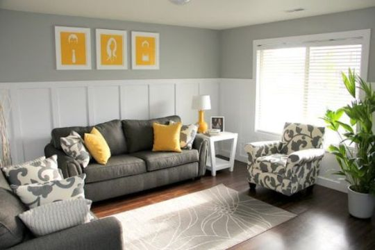 salas amarillas con gris ligeros detalles