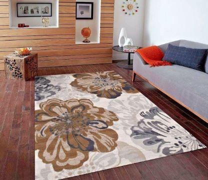 tapetes para sala modernos con flores