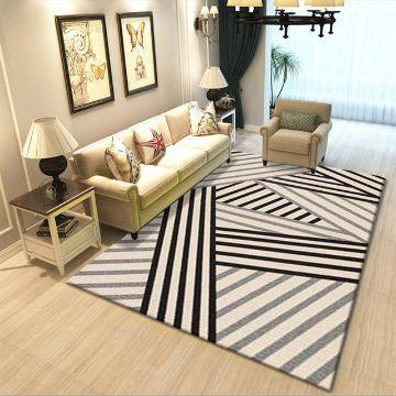 tapetes para sala modernos lineas con efectos