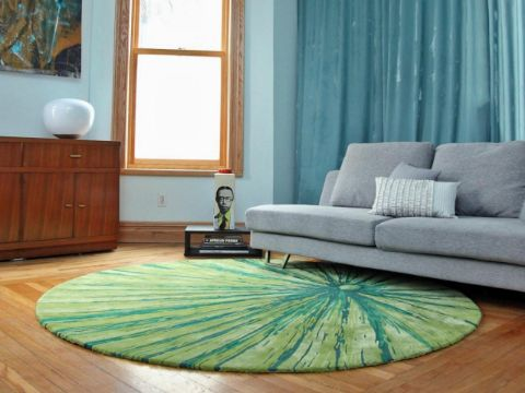tapetes para sala modernos redondos y abstractos