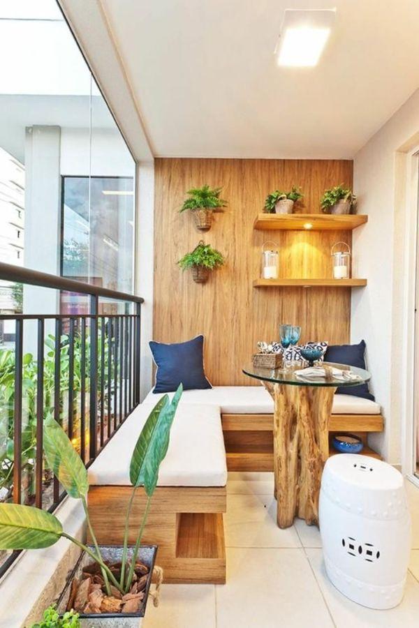 terrazas pequeñas modernas con madera