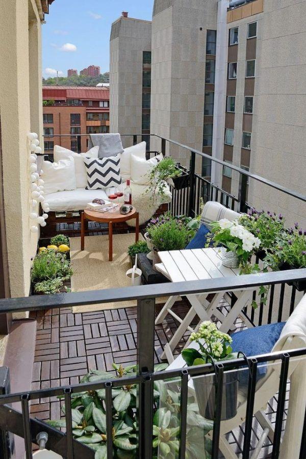 terrazas pequeñas modernas organizada