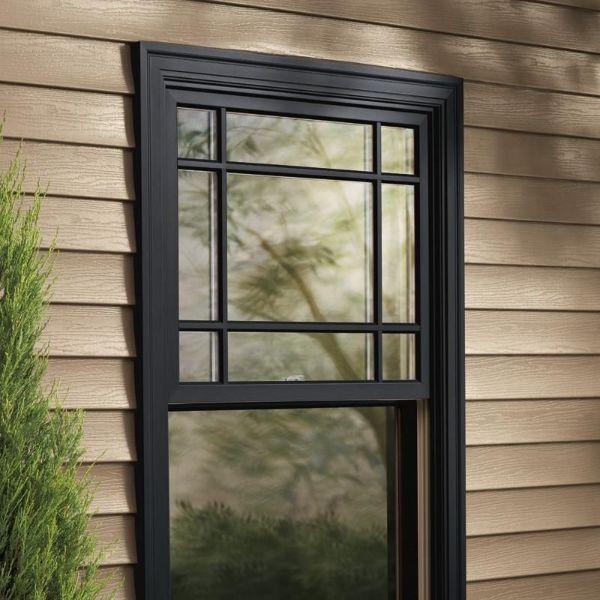 casas con ventanas de madera en tonos oscuros