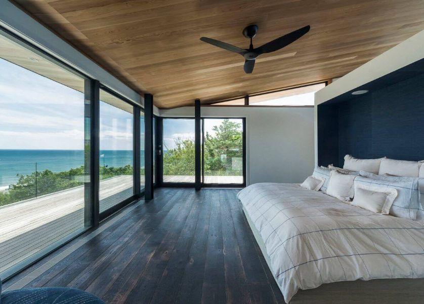 casas con ventanas grandes en playa