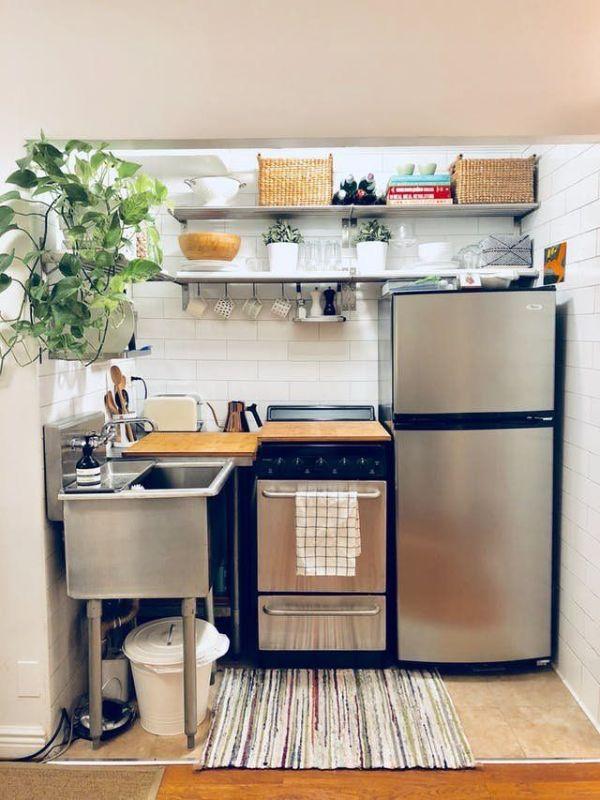 como ordenar una cocina pequeña repisas