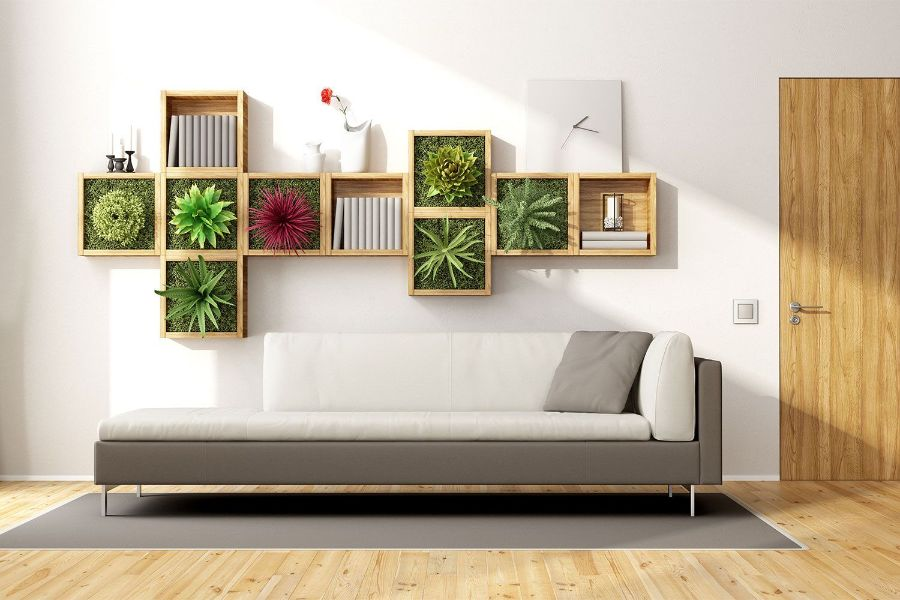 como poner plantas en la pared ideas modernas
