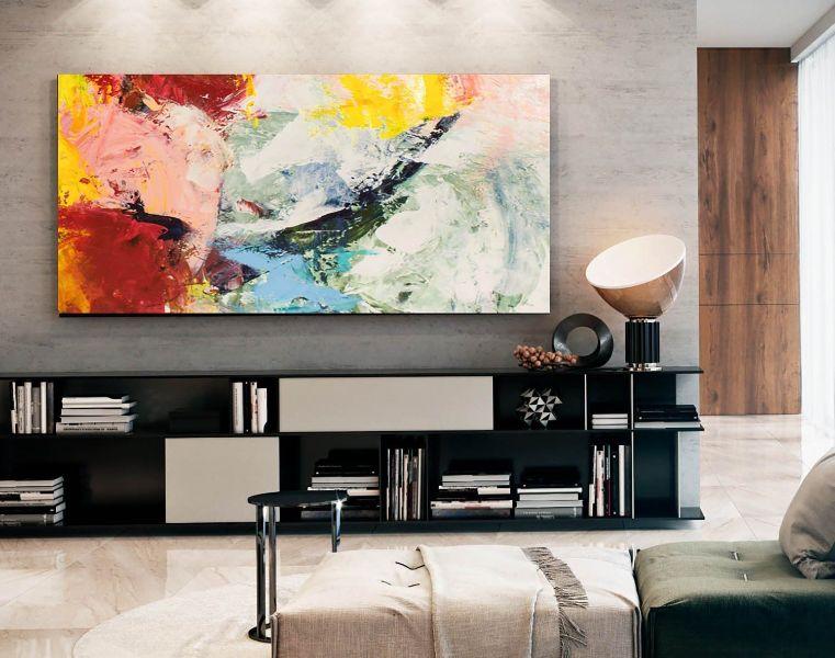 cuadros para una sala moderna arte abstracto