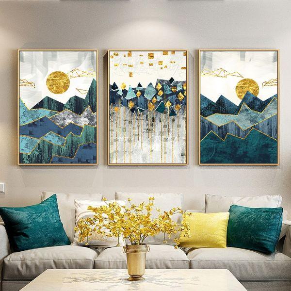 cuadros para una sala moderna tres marcos